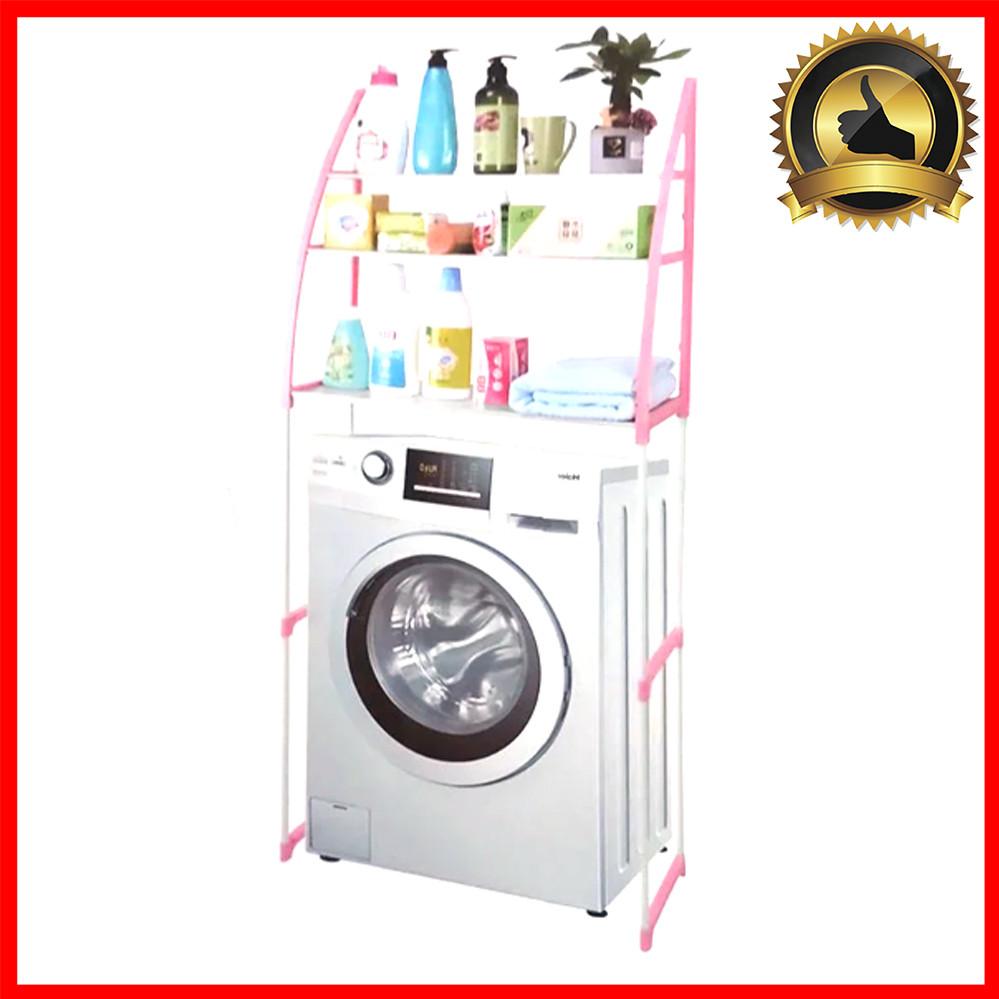 Полка стеллаж для ванной этажерка над стиральной машиной напольная для вещей Белая