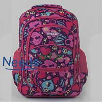 Рюкзак молодежный школьный City No717 46х35х15 см для девочек Розовый