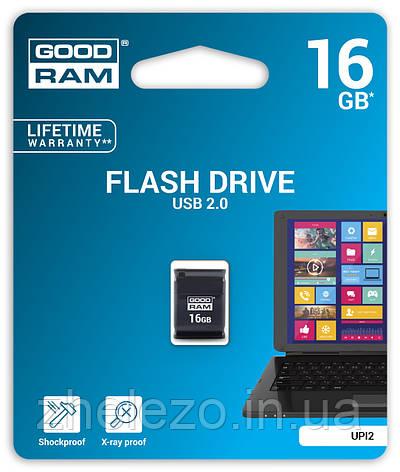 Флеш-накопичувач USB 16GB GOODRAM UPI2 (Piccolo) Black (UPI2-0160K0R11), фото 2