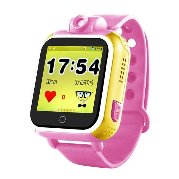 Часы детские Smart Baby Watch Q200 с GPS Android 3G с сим-картой смарт наручные Розовые