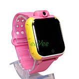Часы детские Smart Baby Watch Q200 с GPS Android 3G с сим-картой смарт наручные Розовые, фото 2