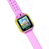 Часы детские Smart Baby Watch Q200 с GPS Android 3G с сим-картой смарт наручные Розовые, фото 4