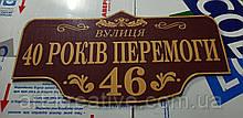 Надомная адресная табличка