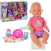 Пупс Warm Baby 38 см функциональный интерактивный с аксессуарами кукла игрушка для девочки (9593)
