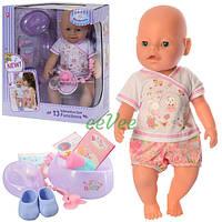 Пупс 42 см Warm Baby интерактивный 13 функций звуковые эффекты на батарейках кукла для девочки (518)