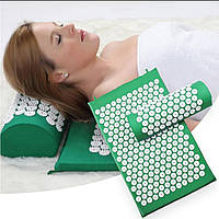 Акупунктурный мат матрас с подушкой Аппликатор Кузнецова коврик для йоги иглоукалывающий массажер