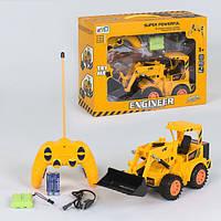 Трактор на пульте управления игрушка детская LCF Truck с движением ковша на аккумуляторе Желтый (9745)