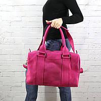 Дорожная сумка Mihey cube short фуксия из натуральной кожи detroit 1470906
