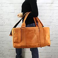 Дорожная сумка Mihey cube long апельсин из натуральной кожи crazy horse 1471007