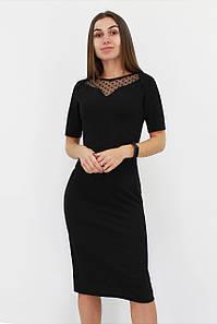 Жіноче вечірнє плаття з сіточкою Tiana, чорний