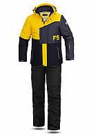 Мужской лыжный костюм FREEVER 11722-52K желтый