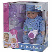 Пупс функциональный Warm Baby 42 см 8 функций кукла большая для девочки с аксессуарами (9925)