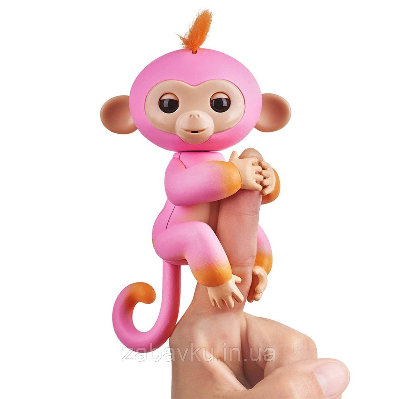 Фінгерлінз інтерактивна мавпочка WowWee Fingerlings, Фингерлингз интерактивная обезьянка на палец оригинал