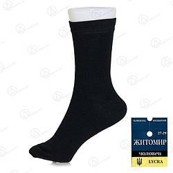 Чоловічі чорні шкарпетки 41-45 Comfort (Україна) 1212drn