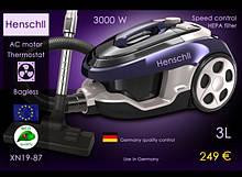 Пылесос Henschll XN19-87, колбовый, 3L - 3000W +термостат
