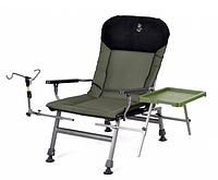 Кресло для рыбалки карповое с держателем для удочки Elektrostatyk FK5 ST/P NN нагрузка 150 кг