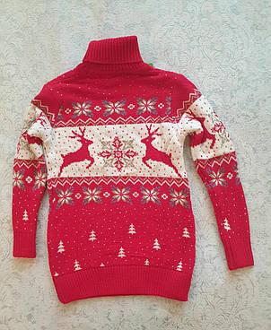 Красный свитер с оленями для мальчиков  подростков, фото 2