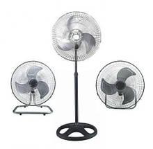 Вентилятор металлический,мощный, 3 в 1  FS 4521 CHENGLI CROWN