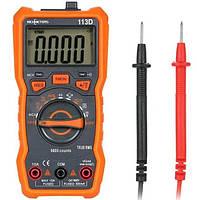 Цифровой мультиметр, тестер Richmeters 113D, ЖК-дисплей с подсветкой, оранжевый с серым