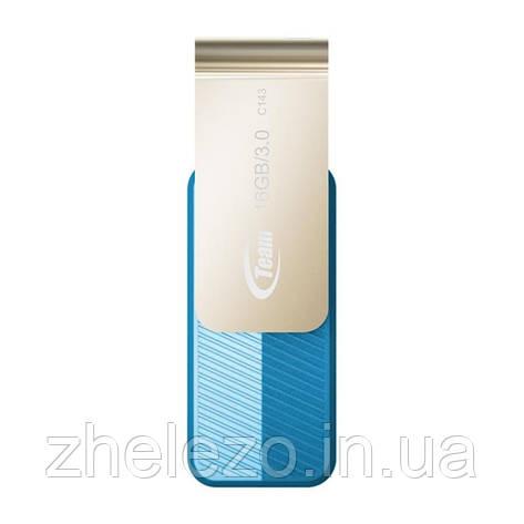 Флеш-накопичувач USB3.0 Team C143 16GB Blue (TC143316GL01), фото 2