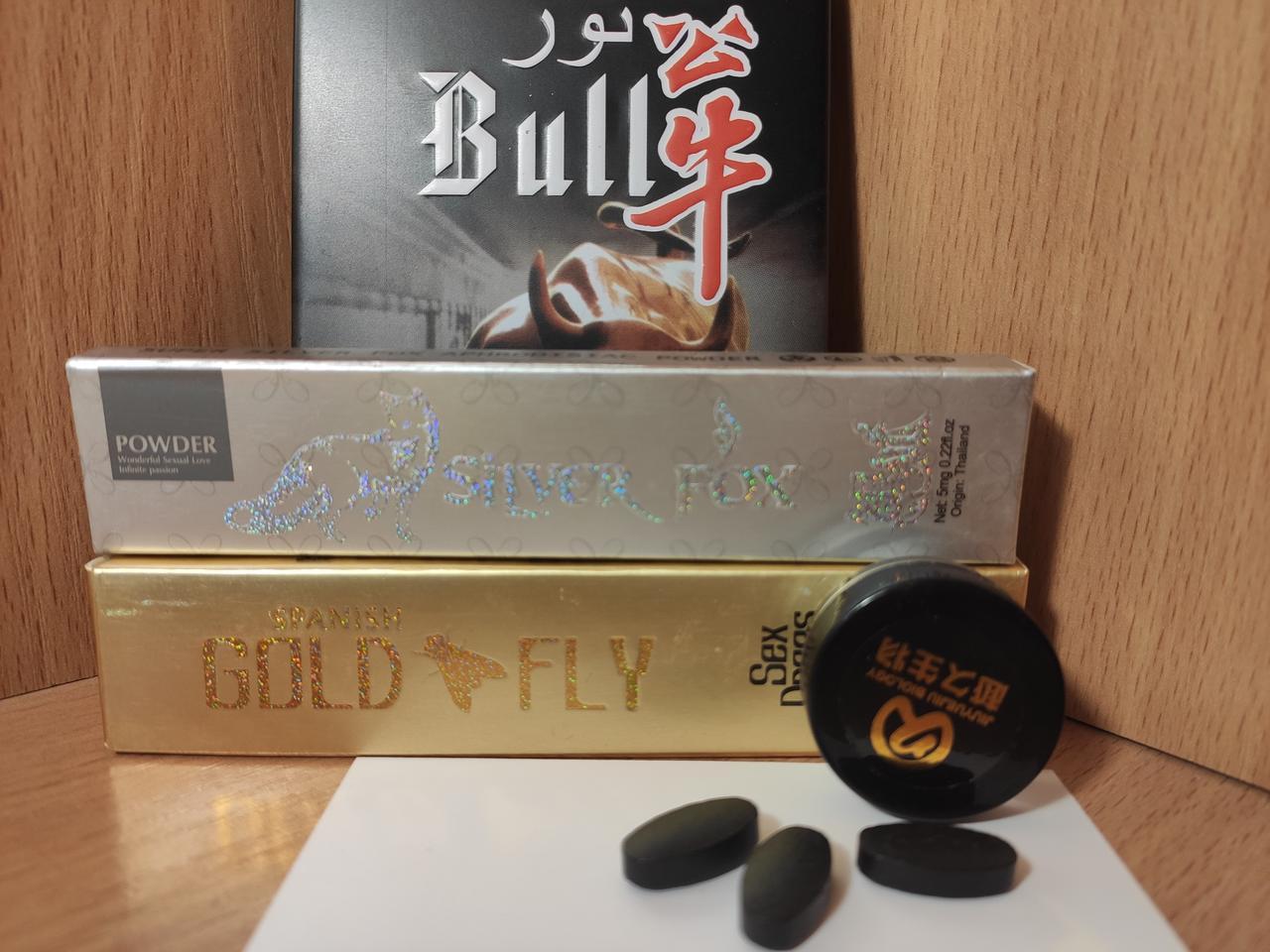 Возбуждающие средства для двоих Silver Fox, Gold Fly и Bull 3шт