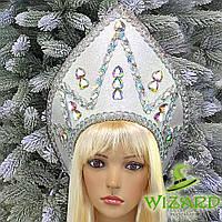 Кокошник Снежная королева серебро 10371, фото 1