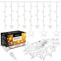 Гирлянда бахрома уличная (наружная) Springos 2 м 138 LED CL4012 Warm White