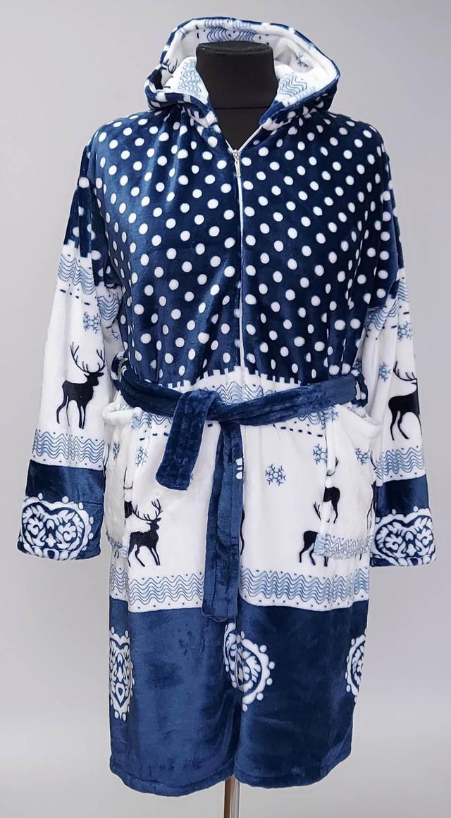 фотография женский махровый халат с оленями