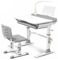 Evo-Evo kids-19+лампа | Учнівський стіл парта одномісна і стілець регульовані, фото 3