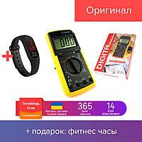 Мультиметр цифровой, тестер вольтметр амперметр, индикатор заряда батарей 1 сорт BM-05-9205 PS