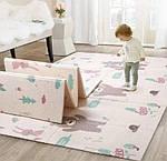 Вспененный детский развивающий коврик Children GO 180* 150 , двусторонний, с рисунками и текстурным покрытием, фото 3