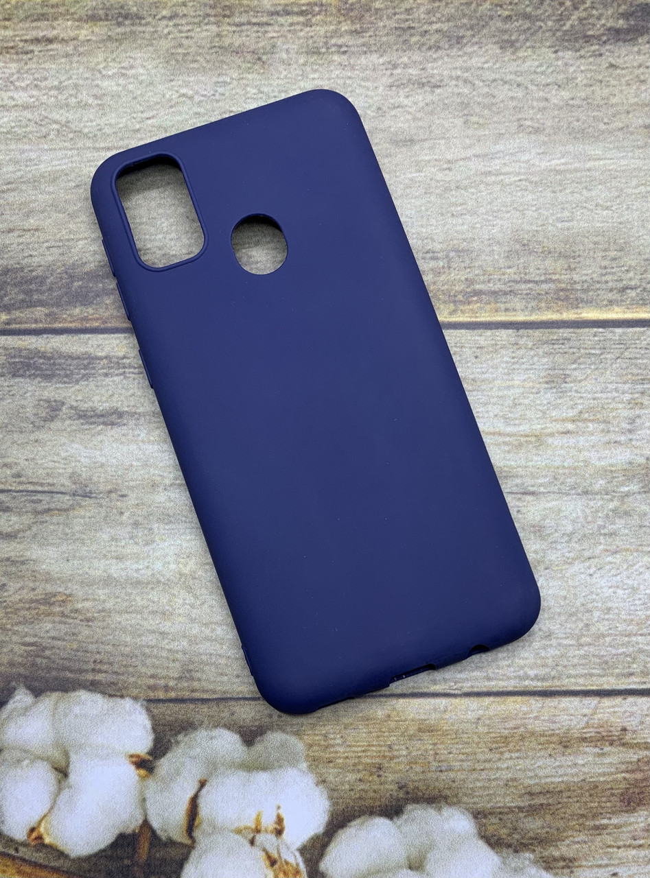Чехол на Samsung M30S 2019 (M307F) матовый цветной силиконовый  ультратонкий бампер/ накладка