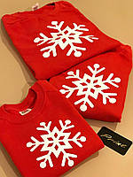 Новогодние парные свитшоты. Одежда для парня и девушки. Familly Look