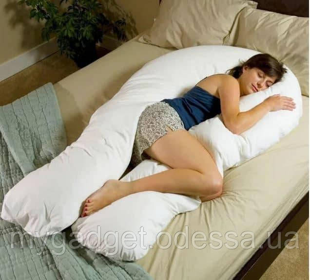 Подушка U образна для сну (Сіра)