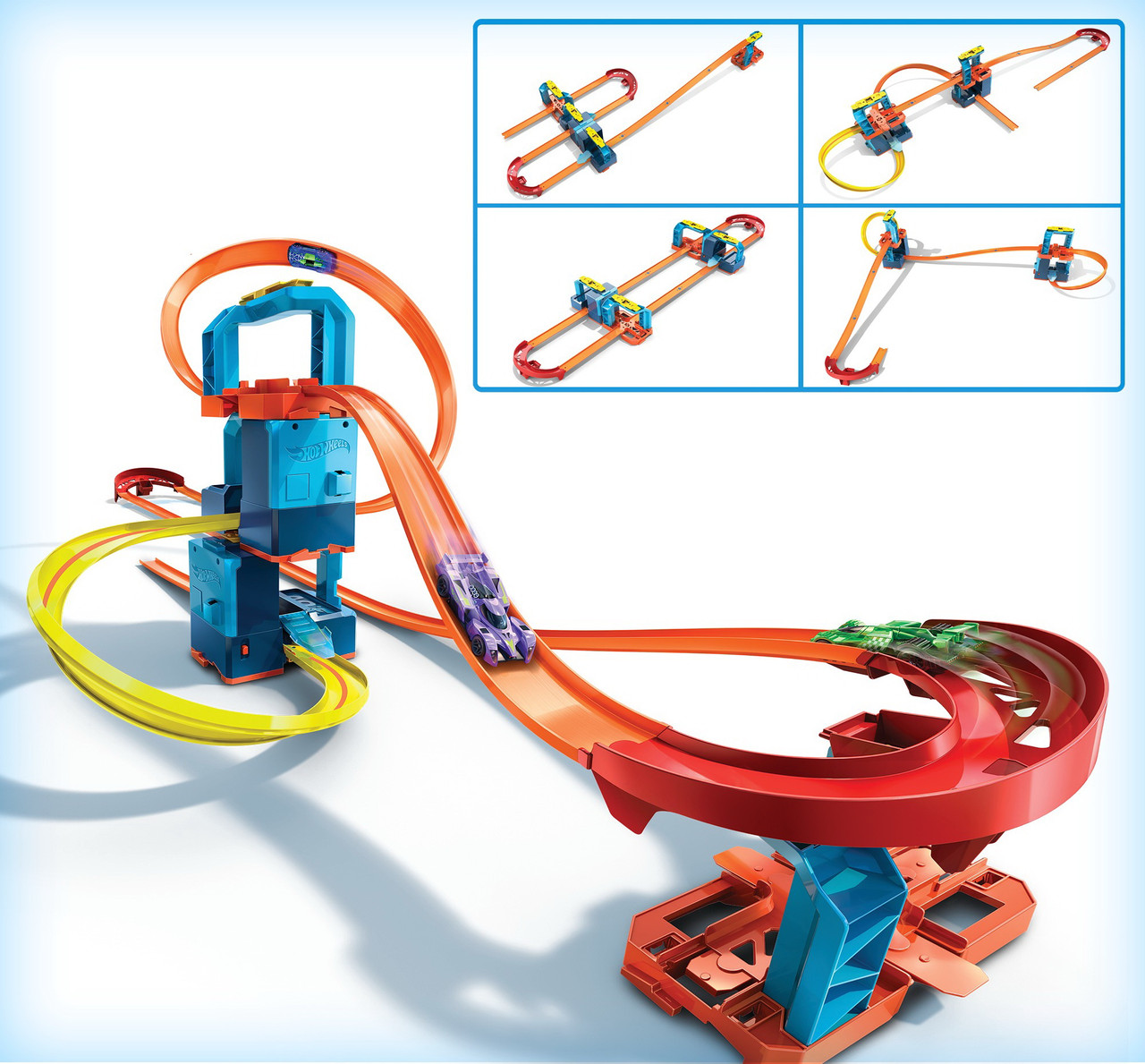 Трек Хот Вілс Hot Wheels Комплект ультра прискорювачів 5 в 1 GLC97