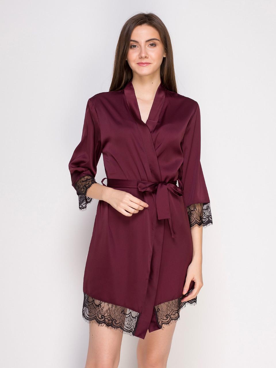 211 халат шовк бордовий Serenade (XL) #N/A