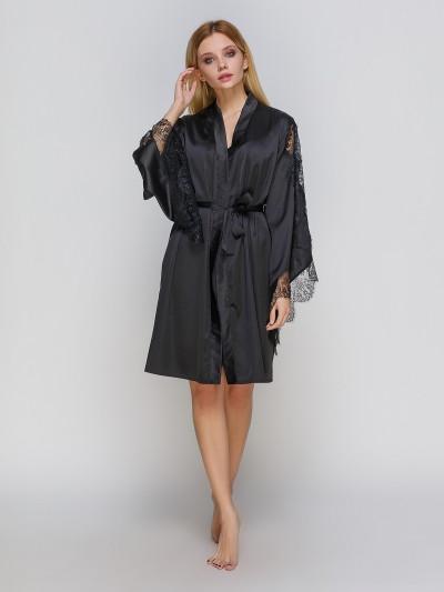 311 халат шовк чорний Serenade (XL) #N/A