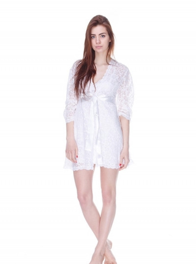 571 халат гіпюр білий Serenade (S) #N/A