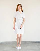 Медицинская туника Наоми в белом цвете