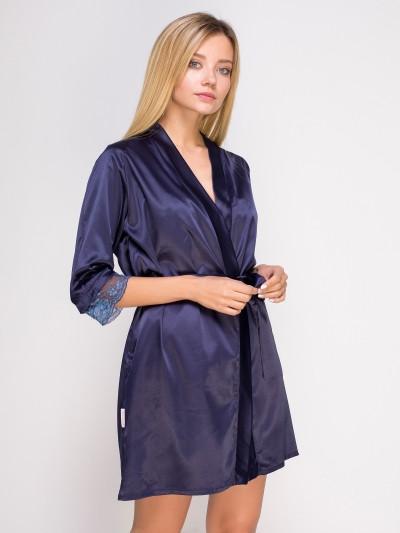 761 халат сатин синій Serenade (XL) #N/A