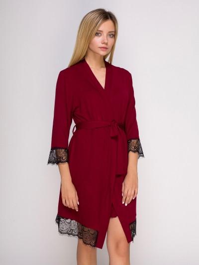 5516Н халат віскоза бордовий Serenade (S) #N/A