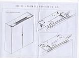 Компланарная раздвижная система UNA LINEA на 2 двери с функцией плавного доведения: L=2200 мм, Movimento, фото 9