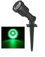 Грунтовий LED світильник 5W IP65 зелене світло Feron SP1402 світлодіодний ландшафтний