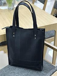 Сумка шоппер натуральная кожа LS-03 Черная