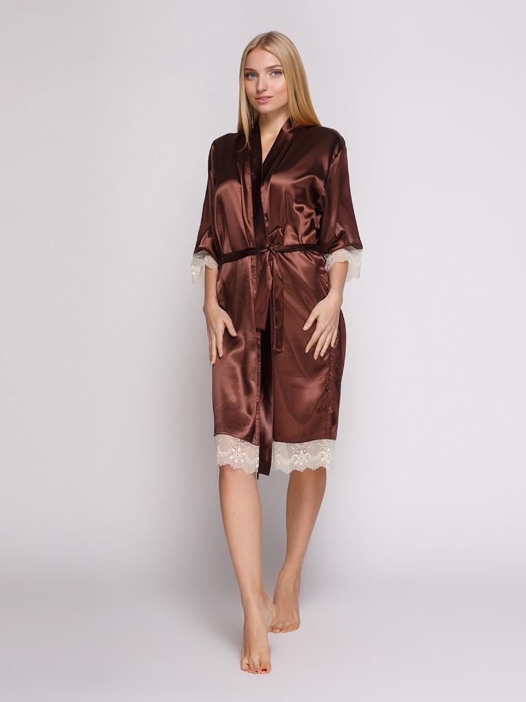 1051 халат атлас коричневий Serenade (XXL) #N/A