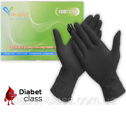 Медицинские нитриловые перчатки (100 шт.)