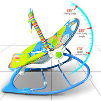 Крісло-гойдалка ibaby з режимом вібрації і дугою з іграшками, фото 2