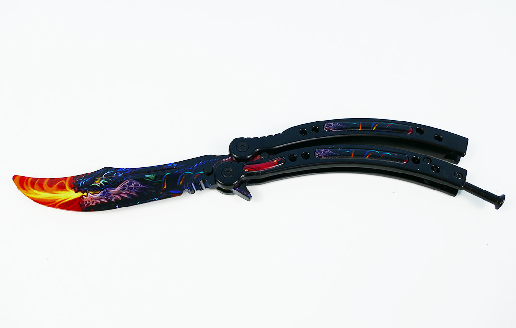 Складной Нож Бабочка из CS:GO Тренировочный Сувенирный (Butterfly Knife)