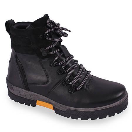 Зимняя мужская обувь Кадар (натуральная кожа, натуральній мех, черные,  теплые, на шнуровку) 15d03b873cc