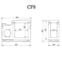Компресорний автохолодильник Alpicool CF8 8 літрів. Режим роботи  +20℃ до -15℃. 12/24/220V, фото 7